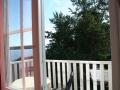 Utsikt från balkongrummet